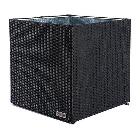 Amazon.de: Outflexx Pflanzkübel Cube 50 x 50 cm Polyrattan schwarz