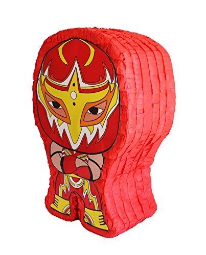 Aztec Imports Pinatas Lucha Kings Red Pinata