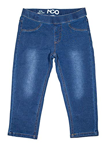 Denim Capris Kids - NCO Girls Kid Denim Blue Jeggings Capri (8, Denim Blue)