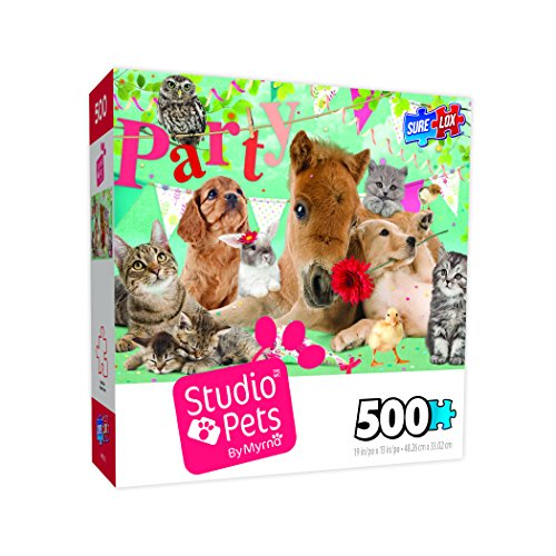 Surelox Studio Pets Happy Birthday Jigsaw Puzzle (500 Piece)