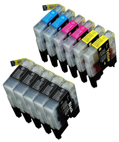 11 Pack Compatible Brother LC-61 , LC-65 , LC61 , LC65 5 ...