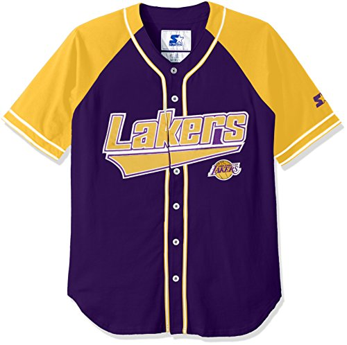 NBA Los Angeles Lakers Men's The Player Baseball Jersey, 3X, Purple