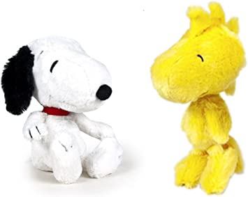 SNOOPY - Pack 2 peluches Snoopy clasico 26cm e Woodstock 30cm