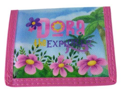 Pink Dora The Explorer and Flowers Bi-Fold Kids Wallet