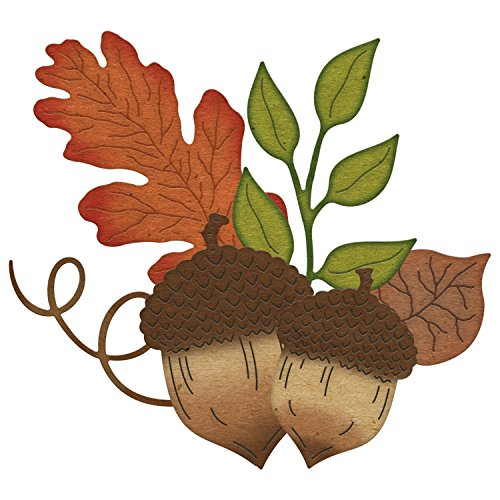 Cheery Lynn Designs Acorns and Leaves Scrapbooking Die Cut Set, 6 Piece
