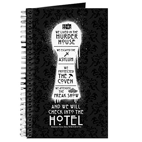CafePress - AHS Hotel Keyhole - Spiral Bound Journal Notebook, Personal Diary, Dot (Keyhole Dots)