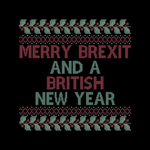 A A British Year And New Jacket Black Brexit Varsity Varsity Knit White Merry Christmas Men's wtXSqEx5n