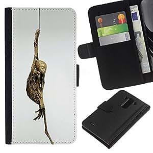ZCell / LG G3 / Mummy Art Yoga Pose Buddhism Modern Archeology / Caso Shell Armor Funda Case Cover Wallet / Momia Arte Yoga Pose el budismo Moder