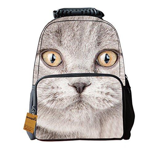 Orrinsports Felt Fabric 3D Animal Backpack Kids Cute School Daypack 16