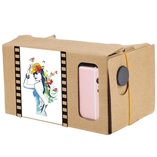 """Private DIY Cardboard Box Virtual Reality Headset 3D VR Glasses 3D Movie Games Head-Mounted Universal for iPhone Samsung 3.5"""" ~ 6.2"""" Smart Phones"""