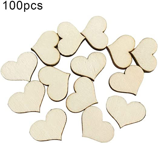 Wedding 100Pcs//pack Wood Sewing Clothing Accessories Buttons Love Heart