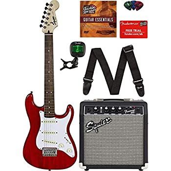 Amazon.com: Squier by Fender Stratocaster Beginner Pack, Laurel ...