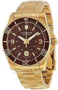 ساعة فيكترونيكس مافريك سويس ارمي كوارتز مينا بني للرجال - (241607)