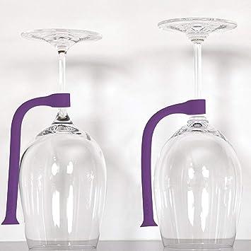 Percha de acero inoxidable para copas de vino, 4 piezas, para Halloween, dispensador