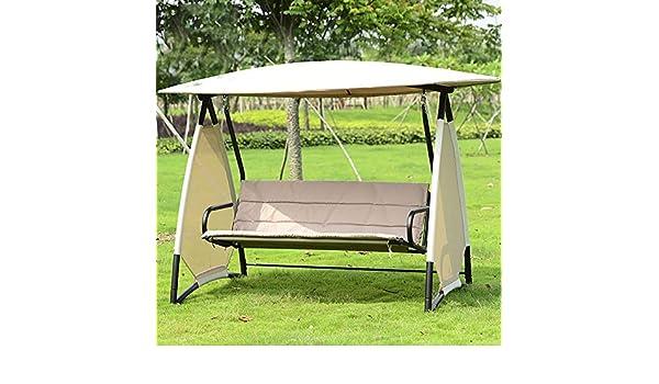 ZDYLM-Y Columpio Balancín Jardín Banco de 3 plazas para Columpios de jardín con Techo Desmontable, Carga de 400 kg, para Patio con terraza: Amazon.es: Deportes y aire libre