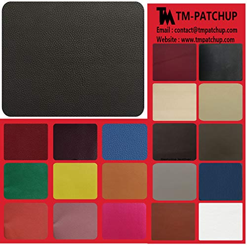 TMpatchup Genuine Leather and Vinyl Repair Patches Kit - Grain Self Adhesive Leather to Repair Furniture, Couch, Sofa, Jacket - Multiple Colors and Sizes Available (Black, 8'' x 11'') ()