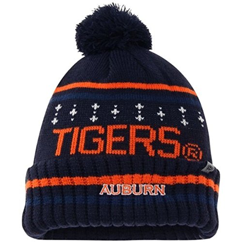 (Top of the World Auburn Tigers Official NCAA Barometer Cuffed Knit Beanie Stocking Hat Cap 225382)
