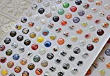 30/60/120/240/300 Pcs Home Button Sticker for Men Women, Colorful Bubble Buttons Home Button Key Keyboard Keypad Sticker Protector Multi Patterns Case Skin DIY Decoration Wholesale Accessories for Apple iPhone 3GS 4 4s 5 5c 5s 6 6 Plus iPod Touch 4 5 iPad 2 3 4 / Mini / Mini 2 /Mini 3 / Air / Air 2 + 1pc Microfiber phone screen cleaning Cloth GIFT, Christmas Halloween Polka Dots Cartoon Animal Star Flower Heart Bow Bowknot Kitty Mustache Simple Black White (240Pc Button Sticker)