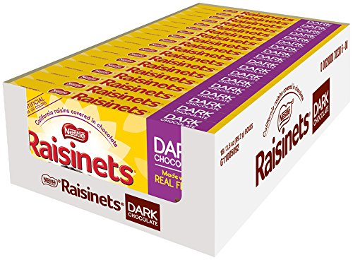 Nestle Raisinets Dark Chocolate On the Go Concession Box, 3.5-Ounce Boxes (Pack of 18)