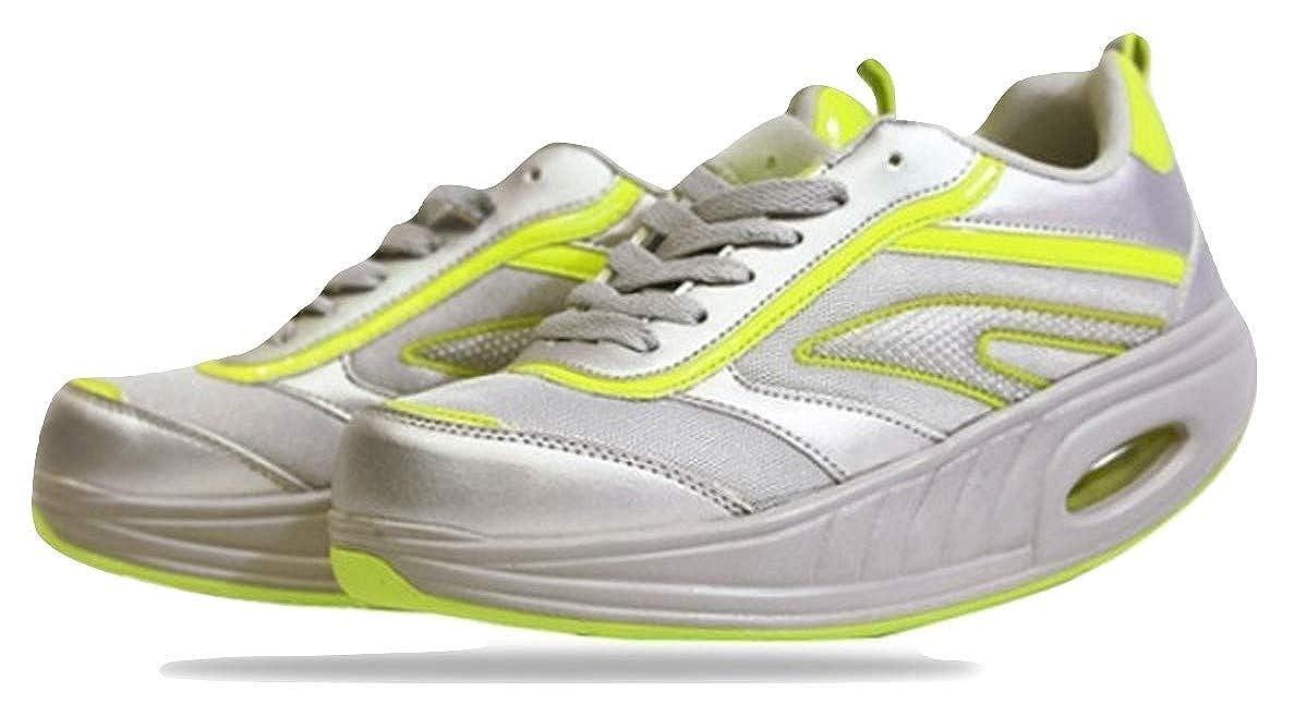 FITNESS STEP Grey/Yellow: Amazon.es: Zapatos y complementos