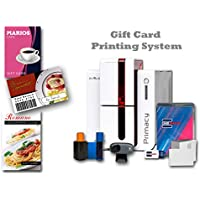 Loyalty & Gift Card Printer Single-Sided ID Card Printer & Supplies Bundle with Card Imaging Software