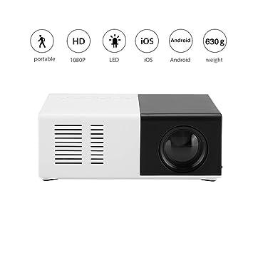 Diyeeni Mini proyector, proyector LED portátil Compatible con ...