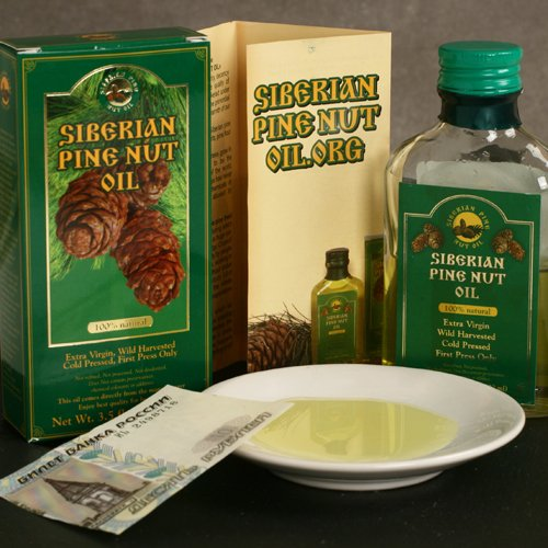 Siberian Pine Nut Oil - 100 ml (3.5 ounce) by Siberian Pines