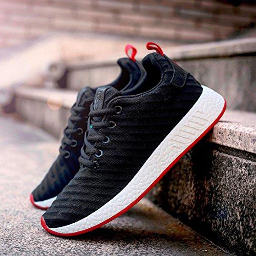 hunpta Women Men Mesh Shallow Mouth Cross Tied Casual Shoes Gym Shoes Skate Shoes Black mBgQtbo
