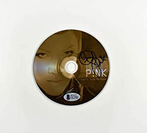 Pink 'Can't Take Me Home' Signed CD Cover Certified Authentic Beckett BAS COA