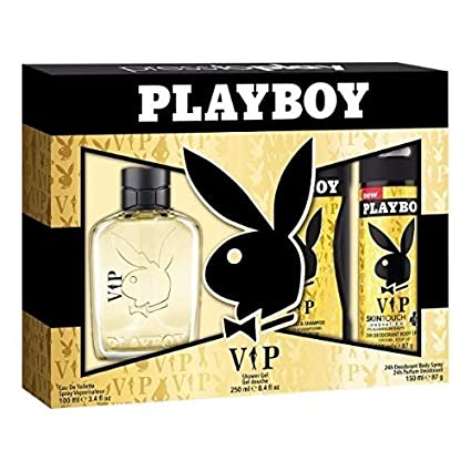 Playboy VIP para hombres- Set de Agua de Colonia 100 ml , Desodorante 150 ml