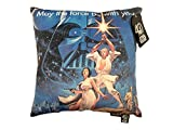 Star Wars May the Force Be with You Decorative Toss Throw Pillow, Blue/Black