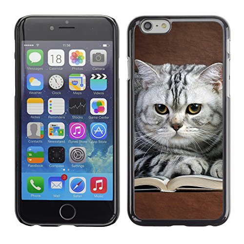 "Premio Sottile Slim Cassa Custodia Case Cover Shell // V00003123 chats sur le livre // Apple iPhone 6 6S 6G 4.7"""