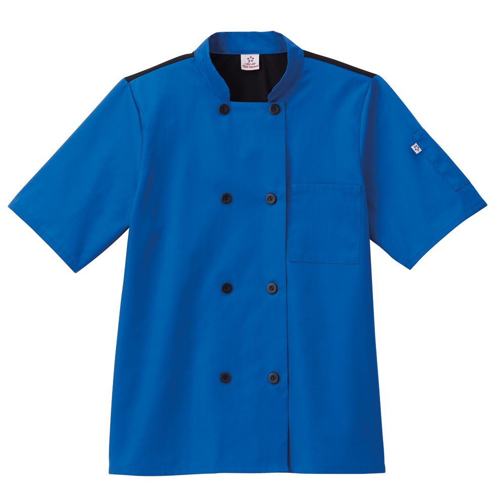 Five Star Chef Apparel Unisex Moisture Wicking Mesh Back Coat, Royal Blue, XL