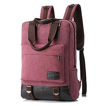 GYPO Mochila multiusos para ordenador portátil, mochila de senderismo, bolsa de viaje (rojo): Amazon.es: Hogar