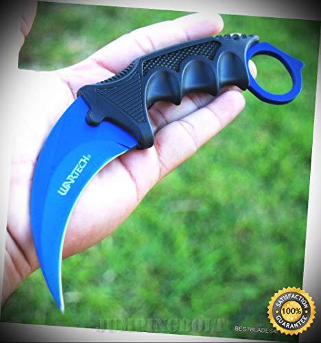7.5'' WARTECH FIXED BLADE NECK SHARP KNIFE WITH SHEATH & NYLON STRING - Premium Quality Hunting Very Sharp EMT EDC