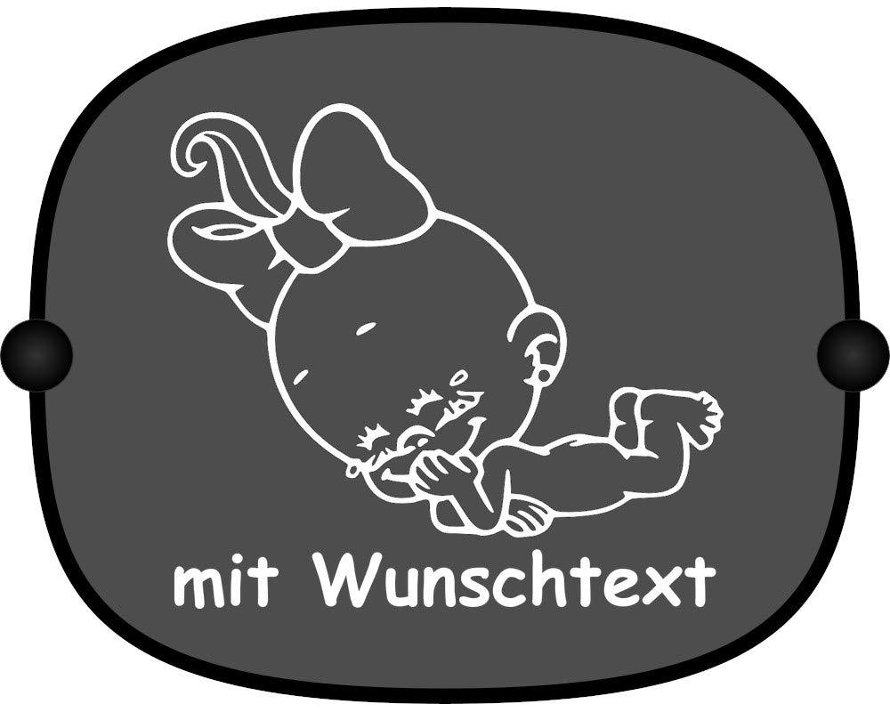 Windel Winni Sonnenschutz Auto Baby Kinder Sonnenblende Mit Wunschtext Motiv Ww30 Großer Aufdruck Baby