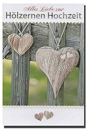 Gluckwunschkarte Alles Liebe Zur Holzernen Hochzeit 93 H0004
