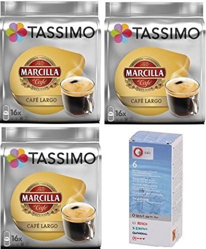 Tassimo Marcilla Largo 48 cápsulas más 1 Descalcificador Bosch: Amazon.es: Alimentación y bebidas