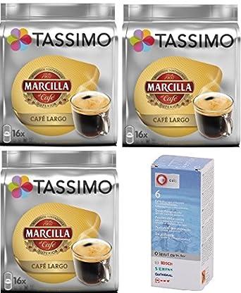 Tassimo Marcilla Largo 48 cápsulas más 1 Descalcificador ...