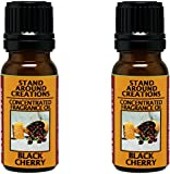 Set of 2 - Concentrated Fragrance Oil - Scent - Black Cherry: A sweet blend of rich ripe cherries. Infused w/essential oil. (.33 fl.oz.)