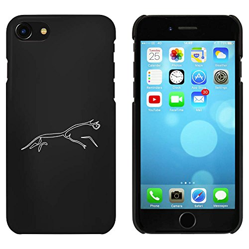 (Azeeda Black 'Uffington White Horse' Case / Cover for iPhone 7 (MC00080903))
