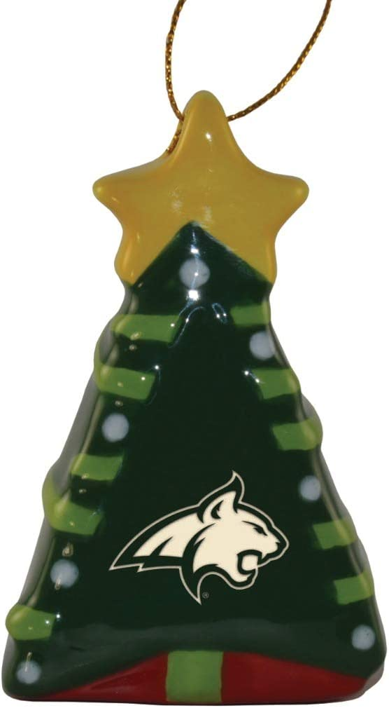 Ceramic Christmas Tree Shaped Ornament Montana State Bobcats Home Kitchen
