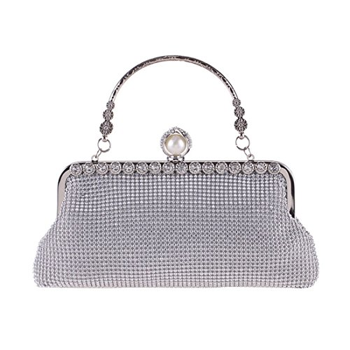Evening Bag Black Diamond KERVINFENDRIYUN Square Small Rhinestone Party Bag Cool Color Purse Fashion Silver Handbag qnnO1EpC