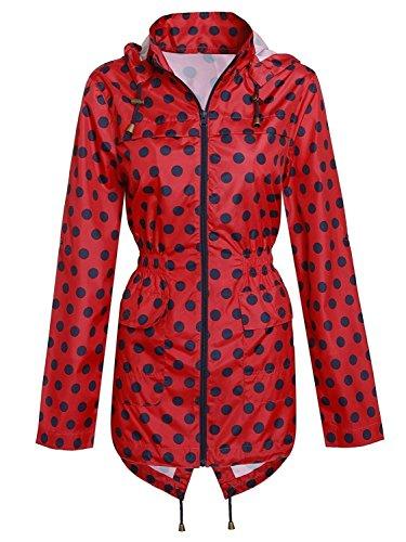 Red Navy Manteaux 36 Mac Polyester Imperméable Encapuchonné Femmes Vestes Ravespot Léger 52 Kagool Nouveau Bax7gq1g