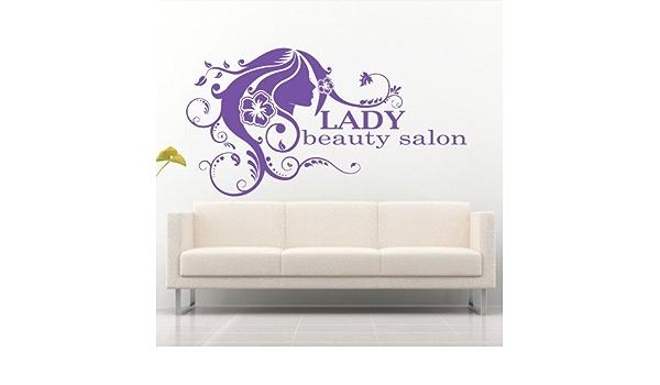 Wall Decal Hair Salon Beauty Master Work Stylist Inscription Signboard M732