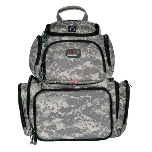 G.P.S. Handgunner Backpack Range Bag, Digital Camo