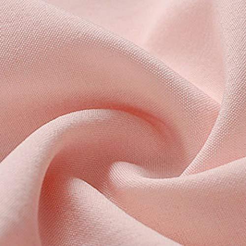 Vtements Rose Femme EFINNY OL Bureau T CouHenley Travail Shirt Tops Uniforme Blouse V de fwnRaq1n