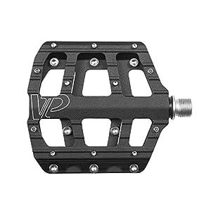VP Components VP-Vice Pedal Set, MTB BMX Bike Pedals, 9/16-Inch Spindle, Aluminum Platform with Replaceable Anti-slip Pins
