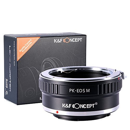 K&F Concept PK-EOSM Mount Lens Adaper for Pentax K PK Mount Lens to Canon EOS M EF-M Camera