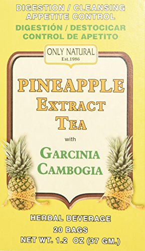 Only Natural Tea Pineapple Extract, Garcinia Cambogia Tea Bags, 20 Count (Garcinia Cambogia Best Price)